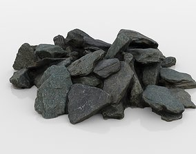 Slate Rock Pile 3D model
