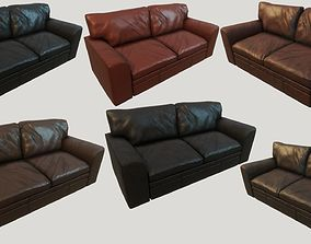 3D asset Old Leather Couches PBR
