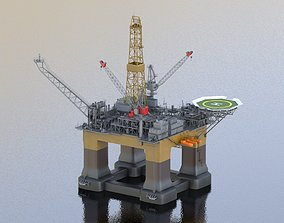 Oil Rig Platform 3D model