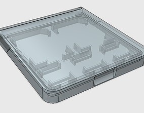 3D printable model SD and uSD card holder