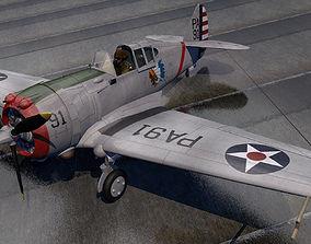 Curtiss P-36A Hawk 3D