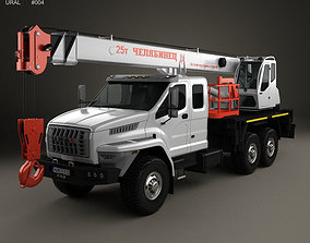 Ural Next Crane Truck 2015 3D