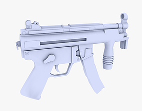 MP5K Submachine Gun 3D model VR / AR ready