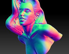 Seductive Woman Bust 3d print model face
