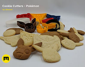Pokemon Cookie Cutters set 3D printable model