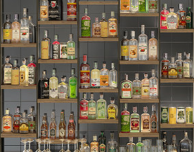 Large bar 6 Alcohol 3D