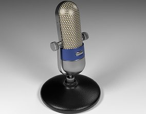 Vintage Microphone electric 3D