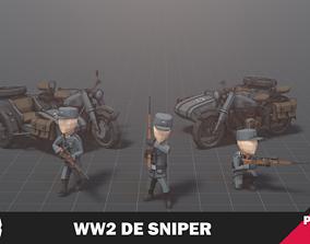 WW2 DE Sniper 3D model
