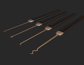 3D asset Lockpick set - PBR - lowpoly