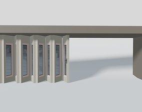 Rigging multi-fold panel door 3D model