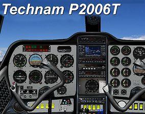 Tecnam P2006T Virtual Analog Cockpit 3D asset