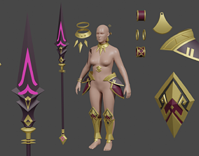 3D print model Xiana Wild Huntress the Summoners War