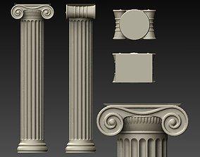3D printable model ionic column