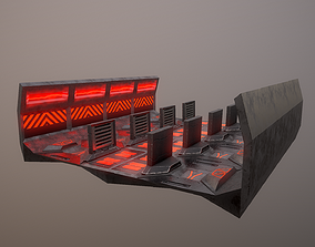 3D model realtime Sci-fi Corridor