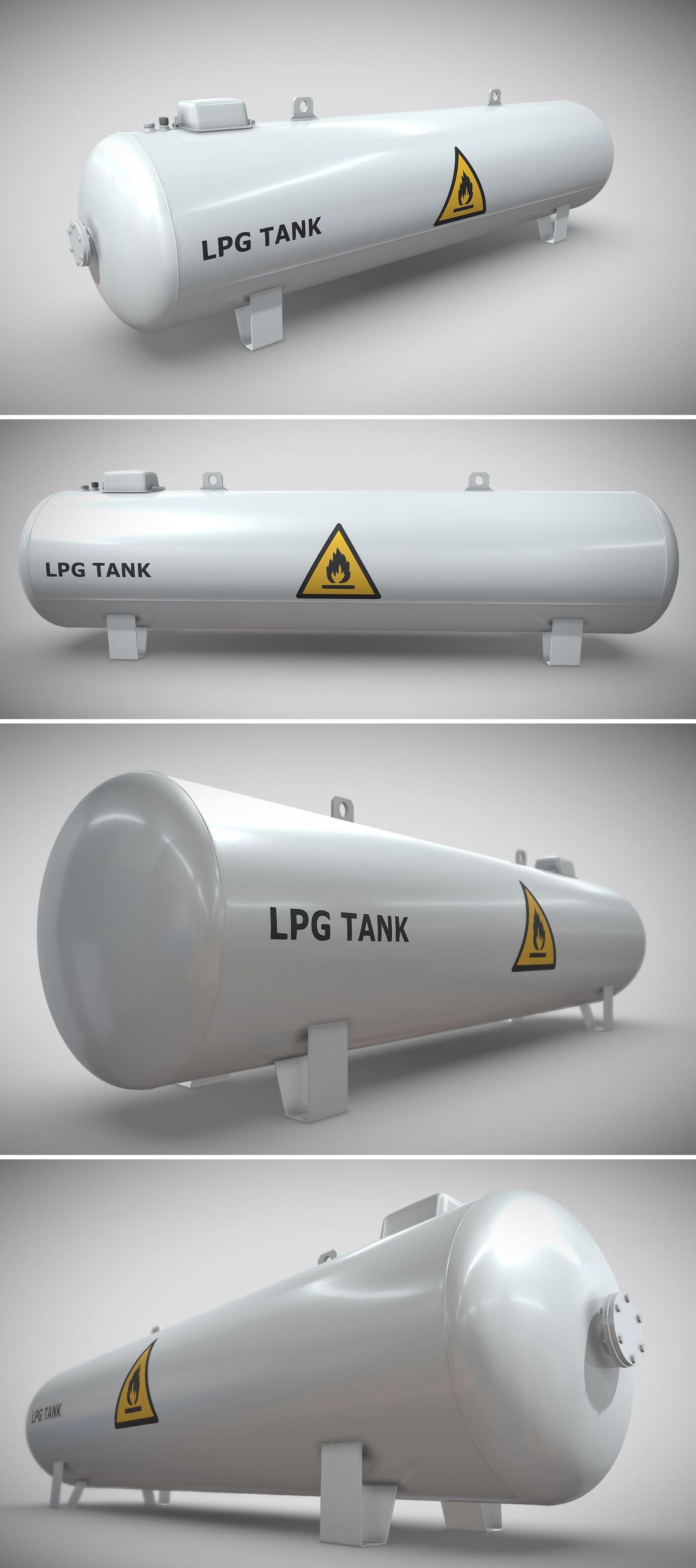 High-Poly LPG Tank