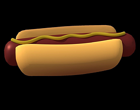 Hotdog with Bites Appearing 3D model