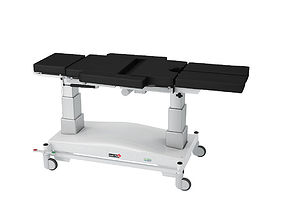 Medi Plinth Mobile Operating Table with Arms 3D