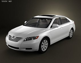 Toyota Camry XV40 2008 with HQ Interior 3D