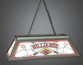 Pool Table Light Dive Bar - PBR Game Ready 3D model
