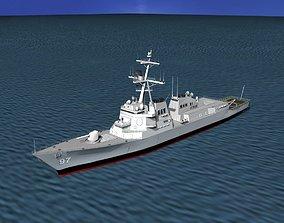 3D Burke Class Destroyer DDG 97 USS Halsey