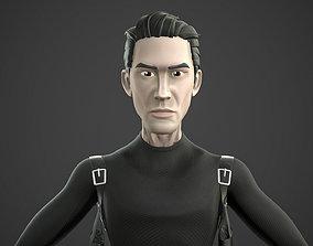 Neo Matrix Keanu Reeve 3D