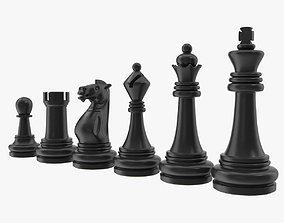 Chess Pieces 3D model VR / AR ready PBR