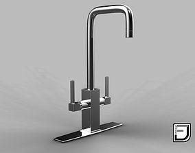Kitchen Faucet chrome 3D model
