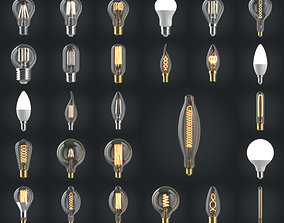 Light bulbs 3D model light-emitting-diode