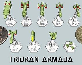 3D print model MicroFleet Tridran Armada Starship Pack