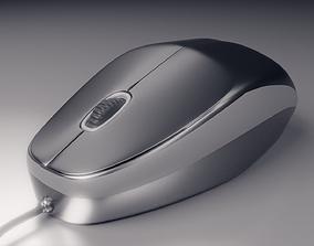 Logitech Computer Mouse USB 3D model rigged