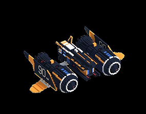 3D printable model Voxel Scifi Ship