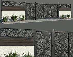plaster Fence 02 3D