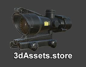 Weapon - Scope - 07 - Scope4X 3D asset