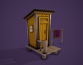3D asset Stylized Shed - Tutorial Included