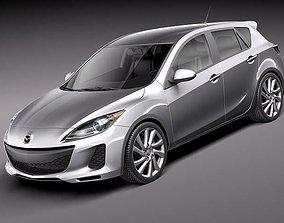 Mazda 3 hatchback 2012 3D
