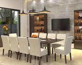 3D Diningroom tropical