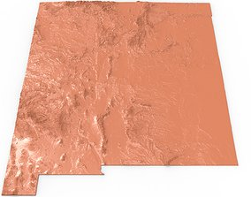 3D printable model New Mexico Relief Map