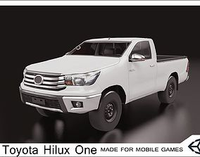 2016 Toyota Hilux one cabin 3D model