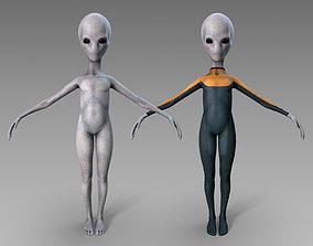 Grey Alien 3D model realtime