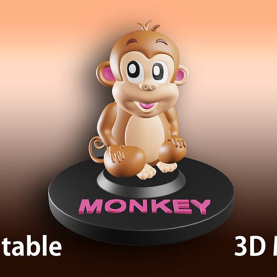 Monkey Statue Model