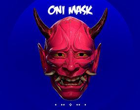 Japan Oni Mask Cosplay 3D printable model