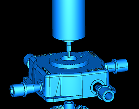 3D printable model Pelton Turbine Full Station