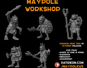 Kuo-toa set October Patreon release 3D printable model