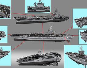 3D model Aircraft Carrier ship