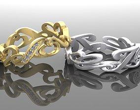 3D print model couple nice rings LOVE for beloved girl