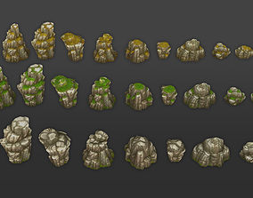 Rock Formation Pack 3 3D asset