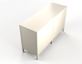 Niche 6-Drawer Dresser - White 3D model
