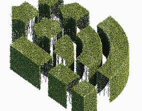 3D model fence Hedge 400x800