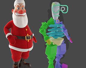 3D model RIGGED Santa Claus Character