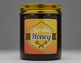 Honey Jar - Cosmetic Jar 3d Model jam